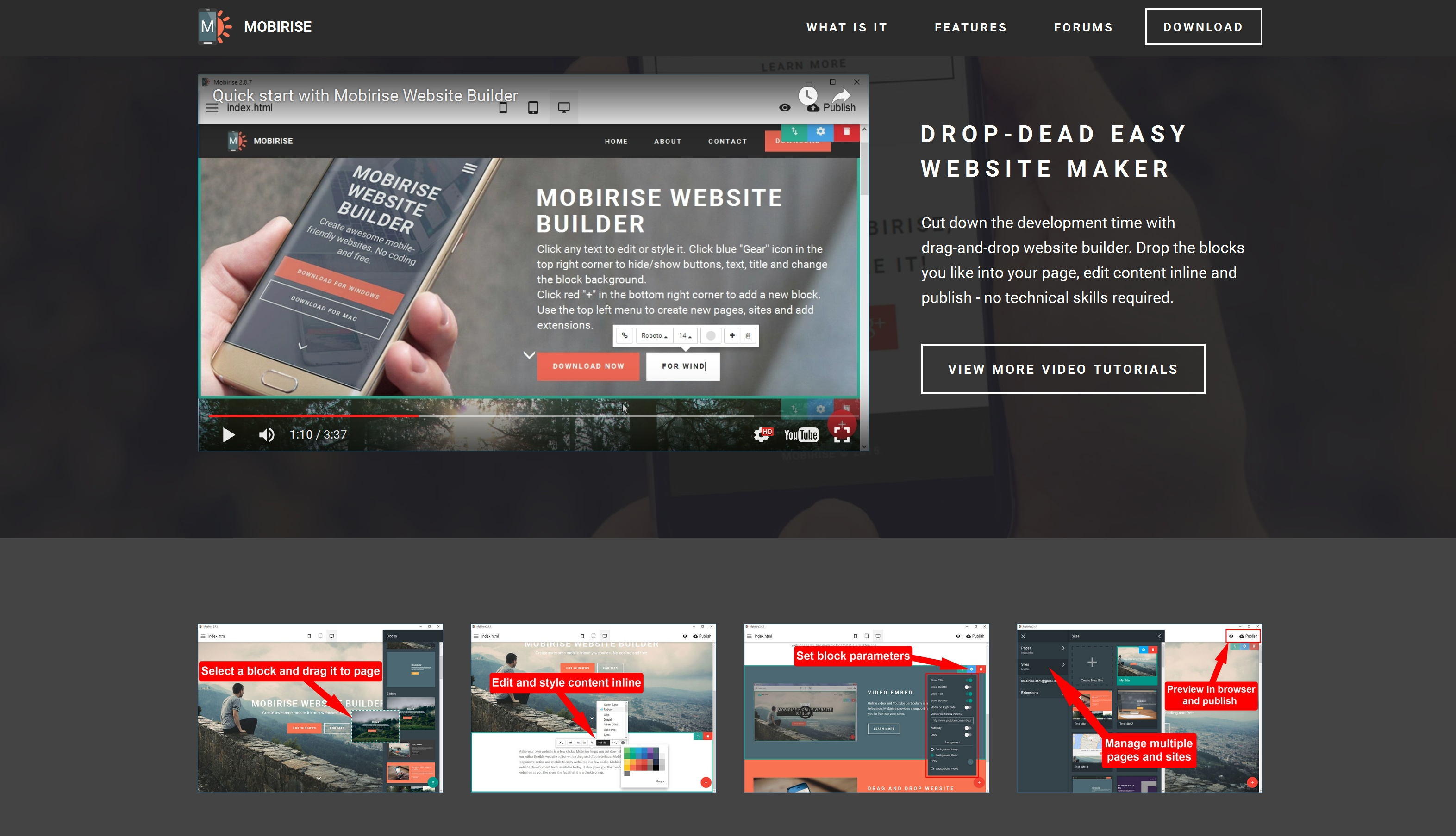 Offline Mobile Website Maker Software