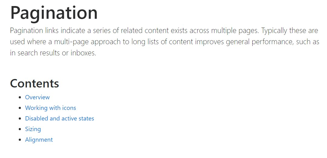 Bootstrap pagination  main  information