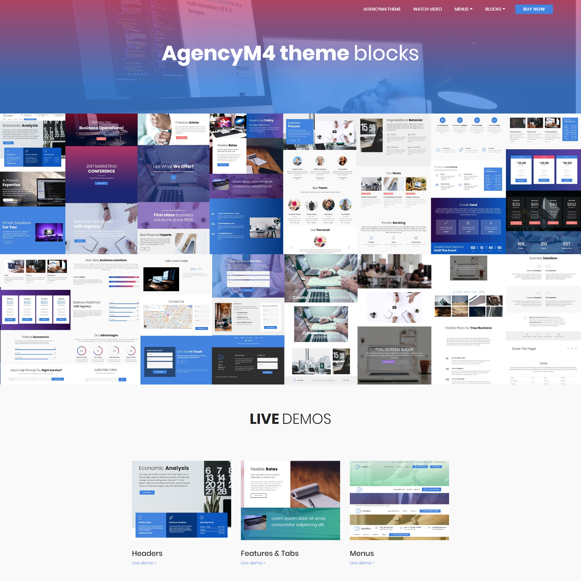 HTML Bootstrap AgencyM4 Themes