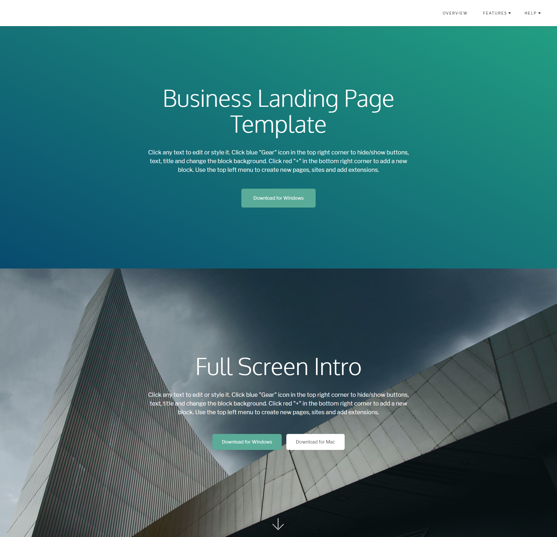 Free Bootstrap Business Landing Page Templates
