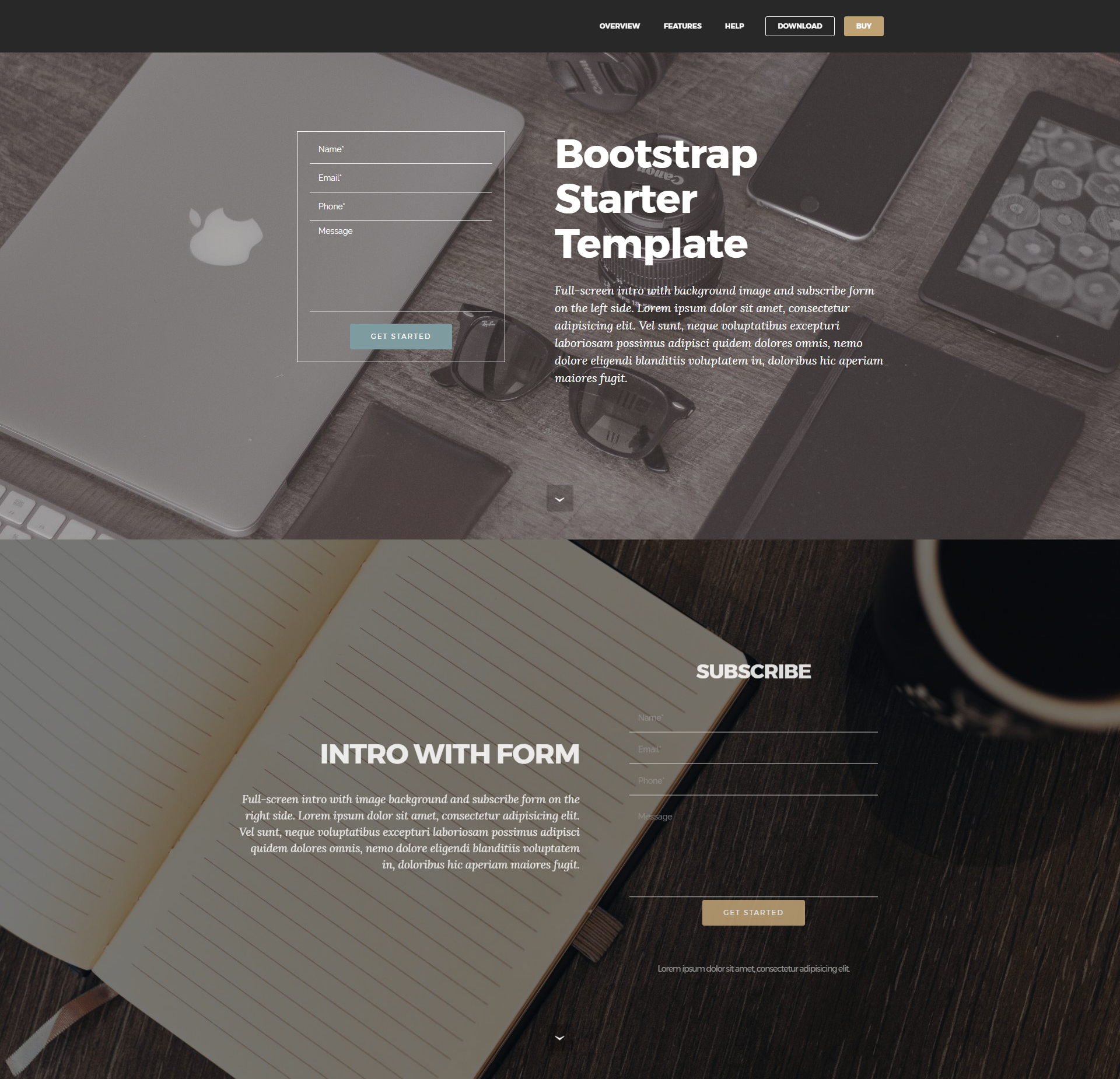 Responsive Bootstrap Starter Themes