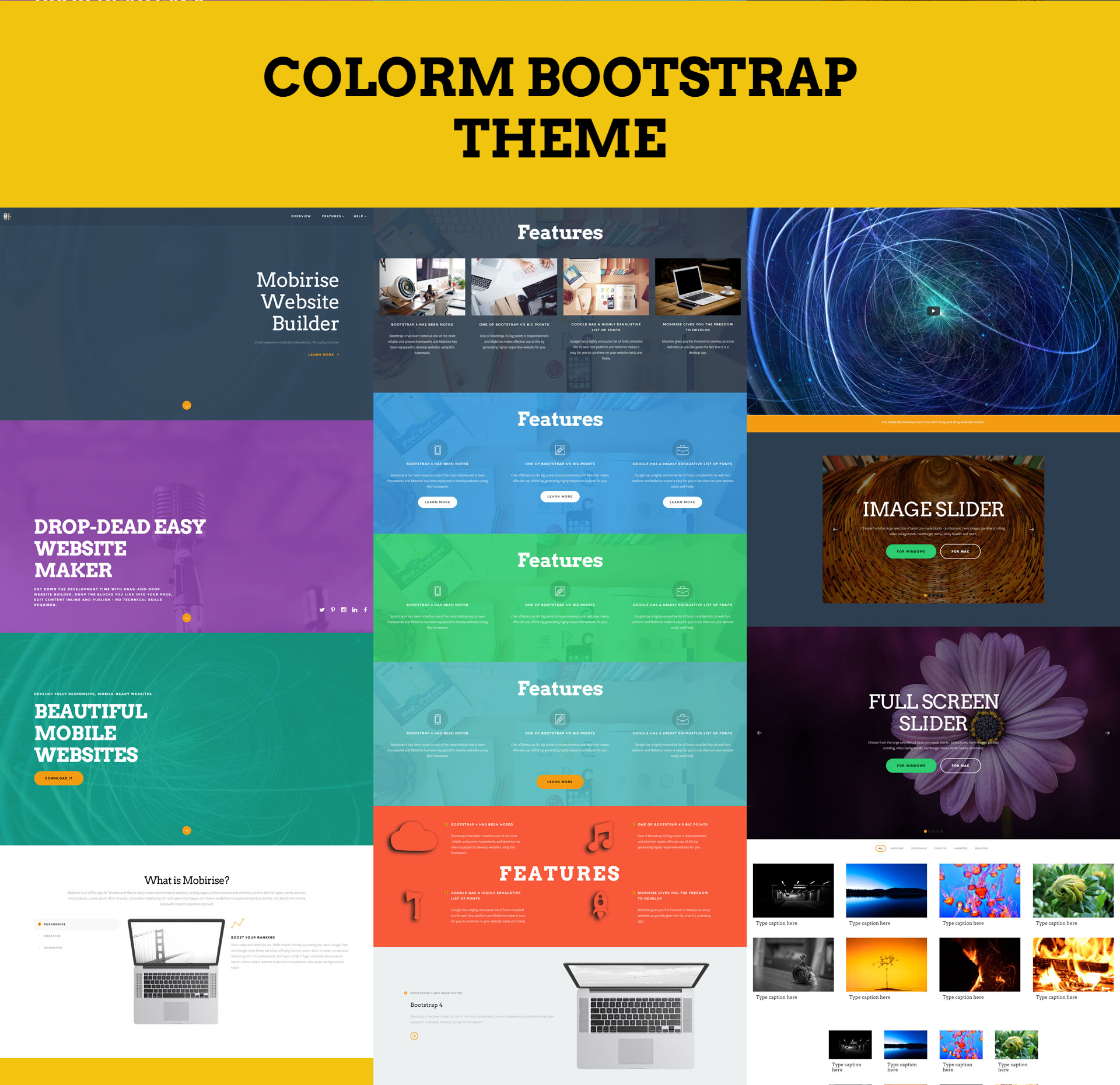 Free Download Bootstrap ColorM Themes