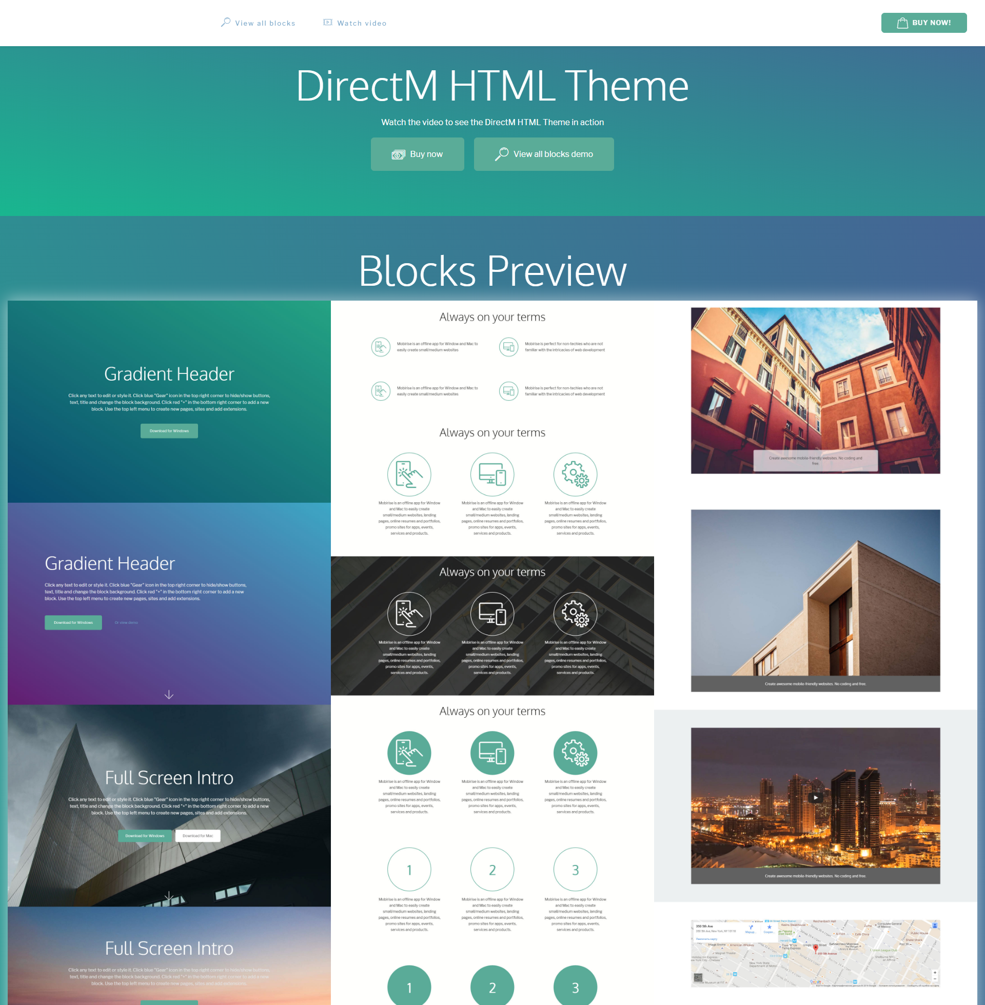 HTML Bootstrap DirectM Templates