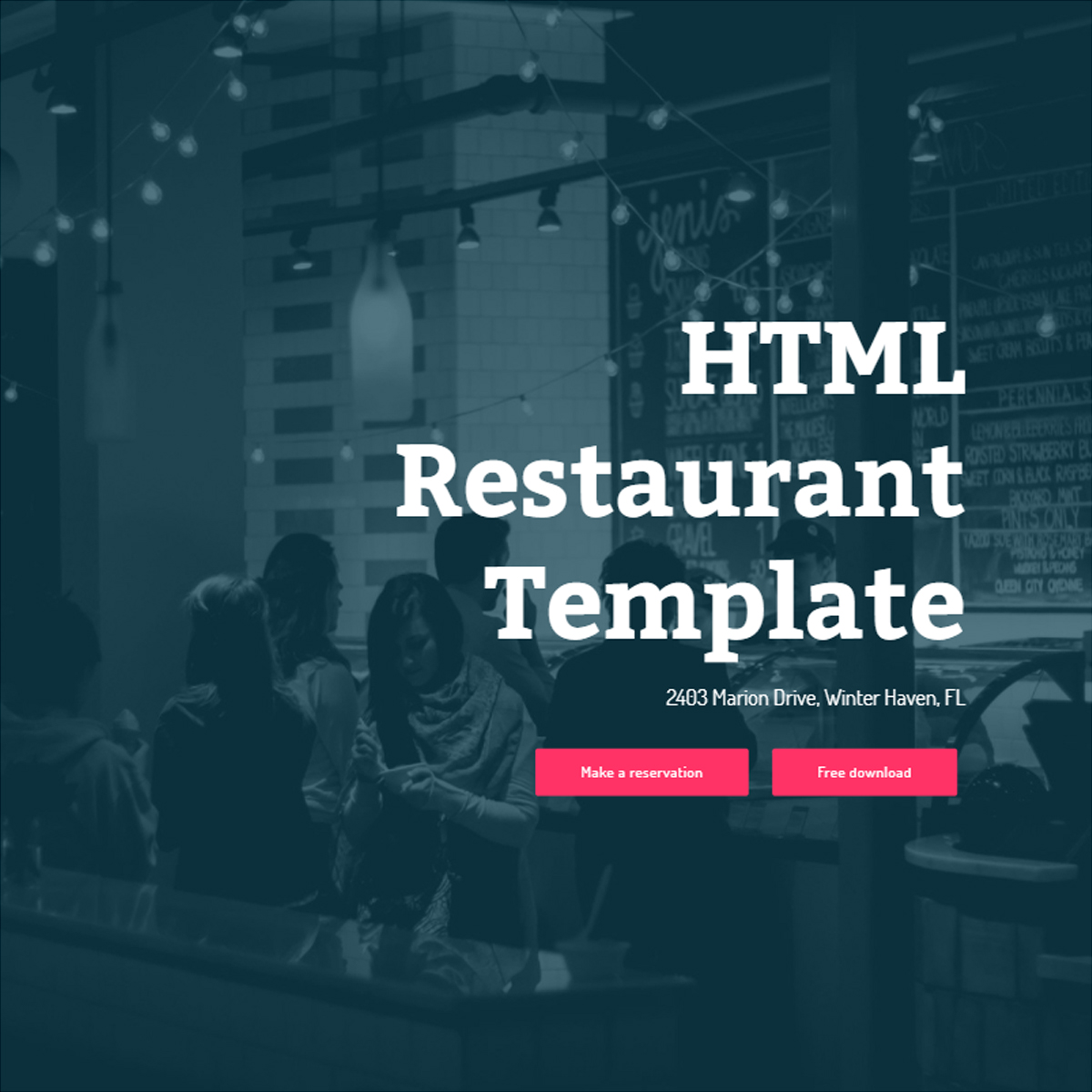Responsive Bootstrap Restaurant Templates