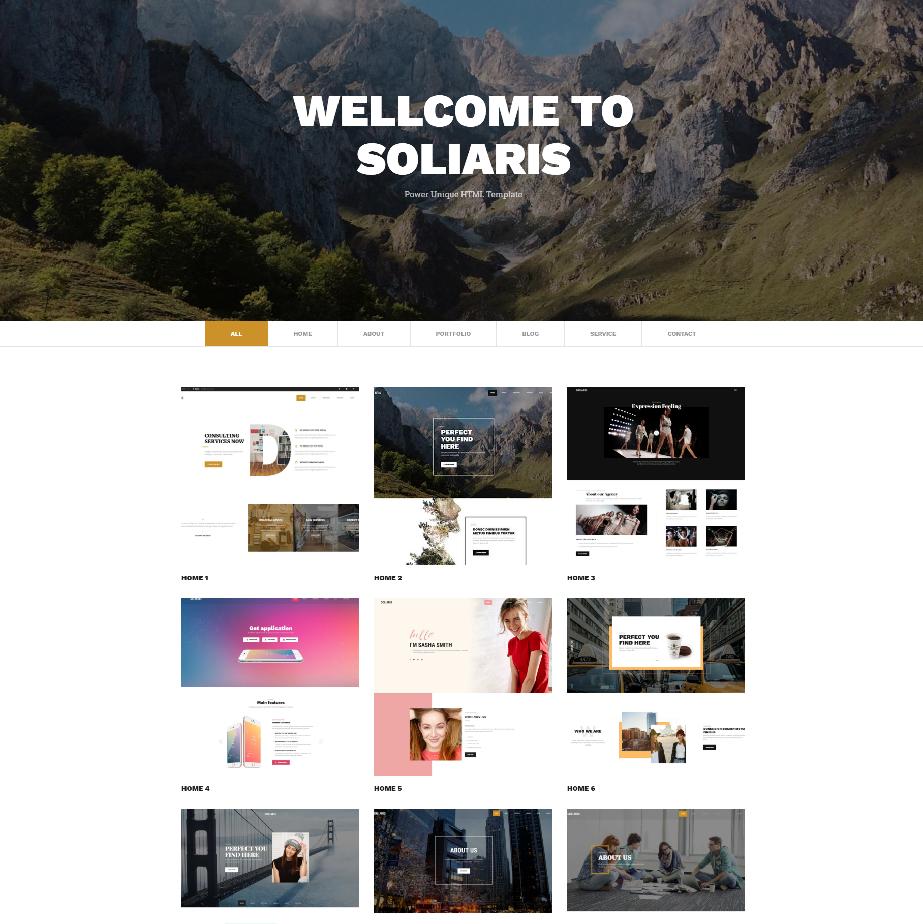 HTML5 Bootstrap Soliaris Templates
