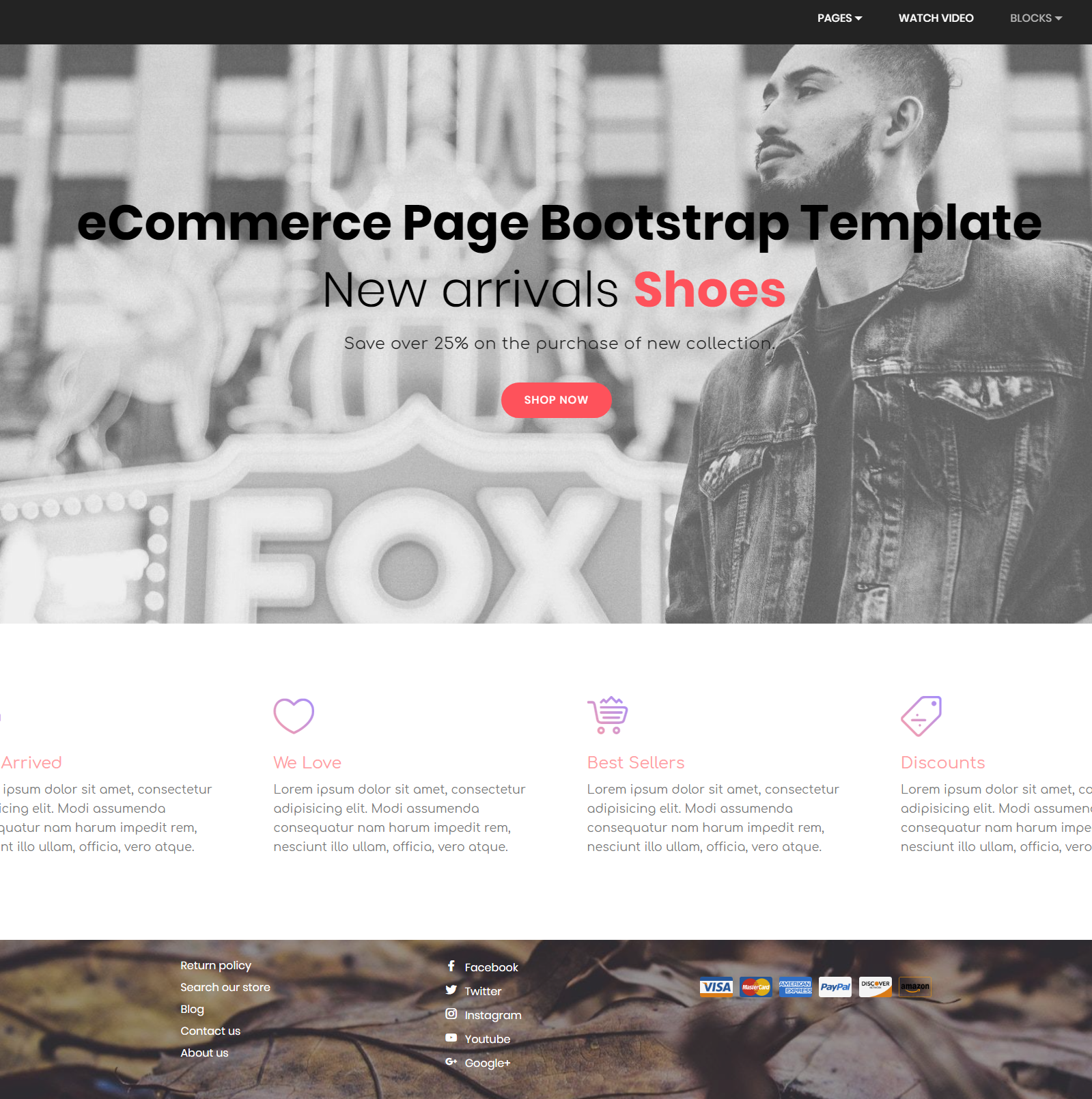 HTML5 Bootstrap eCommerce Templates