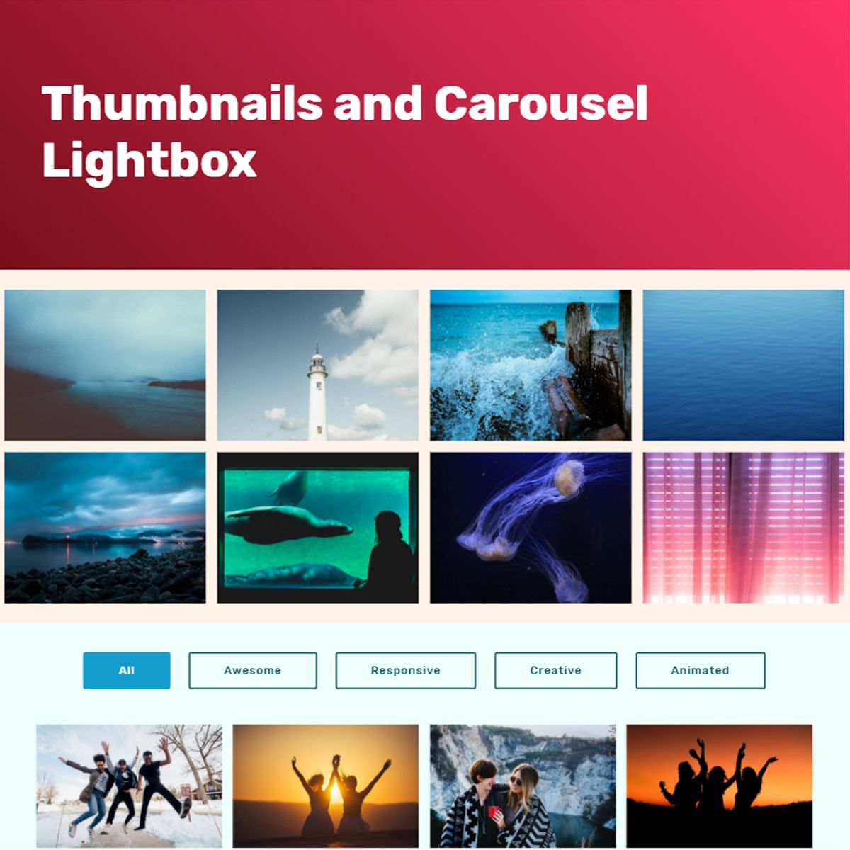 CSS3 Bootstrap Illustration Slideshow