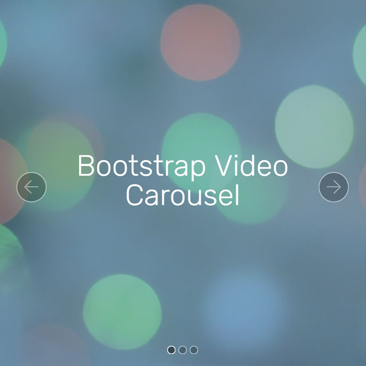 Free Bootstrap Photo Slideshow