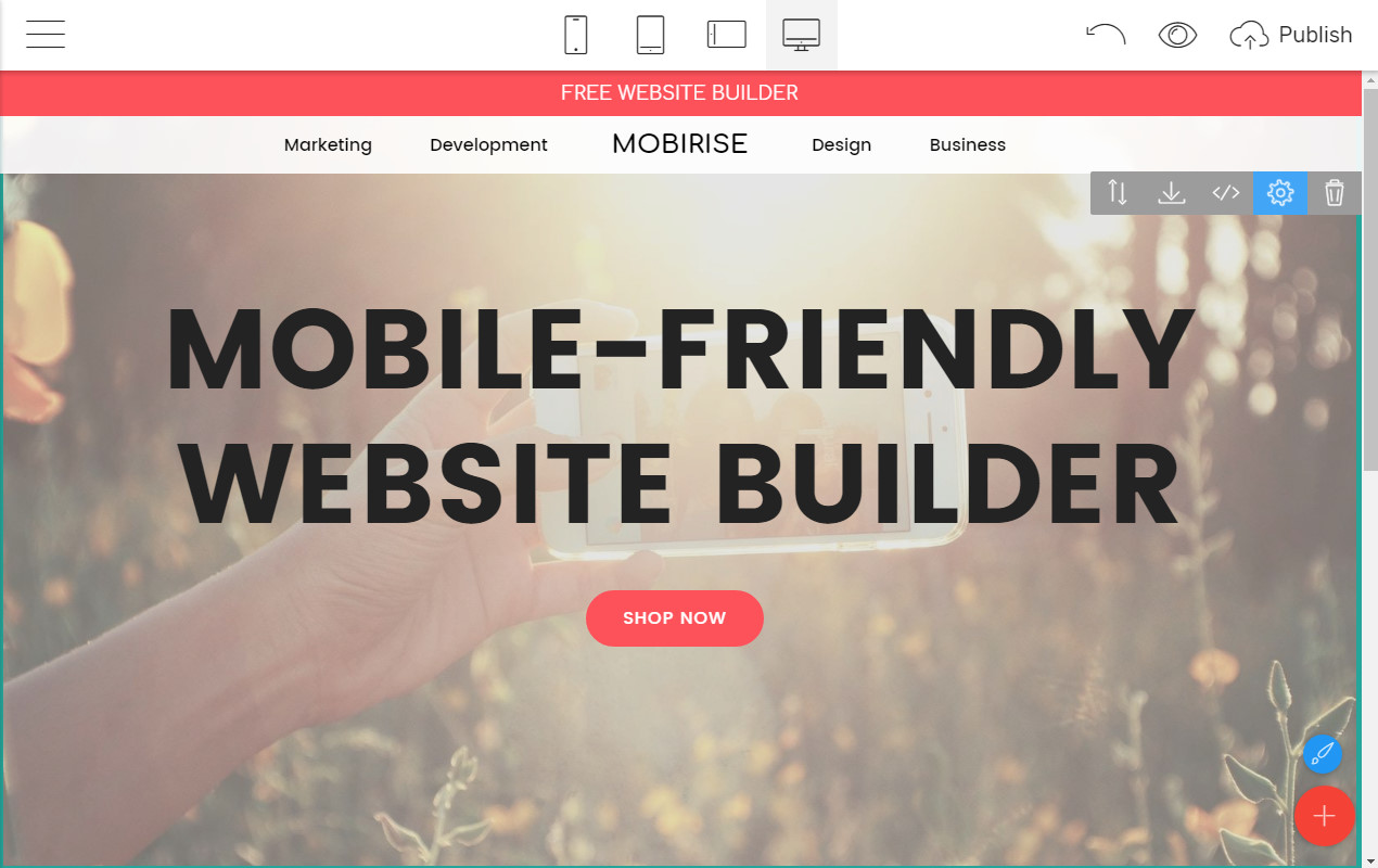 Mobile-friendly Site Creator