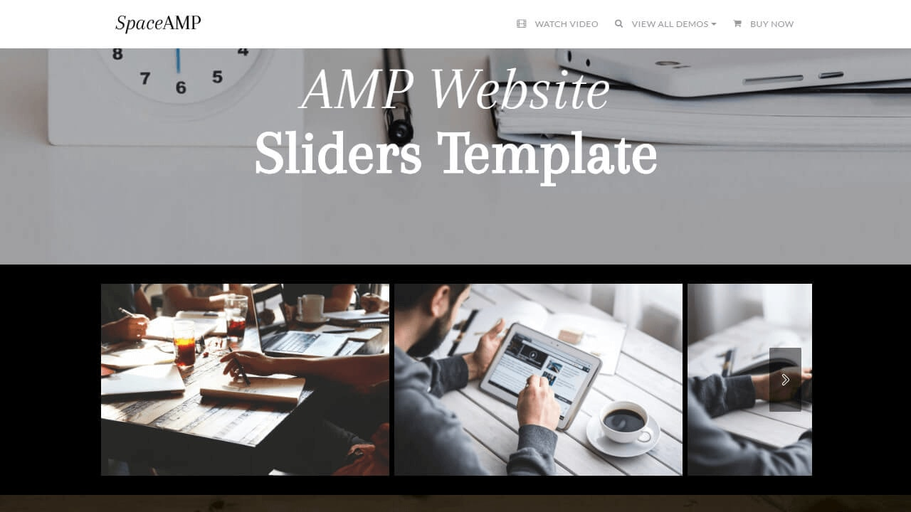 AMP Website Sliders Template
