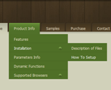 Green Menu Template - Dhtml Sliding Menu